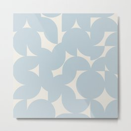 Abstract Geometric Shapes - Blue Metal Print