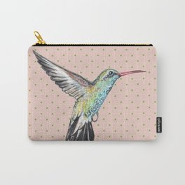 Hummingbird and polka dots Carry-All Pouch