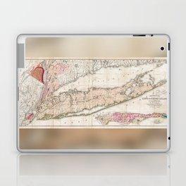 1842 Map of Long Island Laptop & iPad Skin