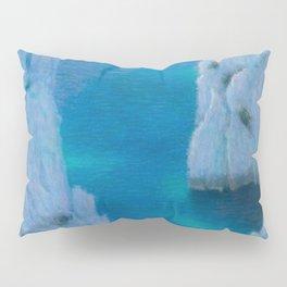 La Calanque Turquoise Blue Ocean & Limestone Cliffs by Lucien Levy-Dhurmer Pillow Sham