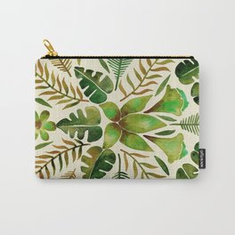 Tropical Symmetry – Olive Green Carry-All Pouch