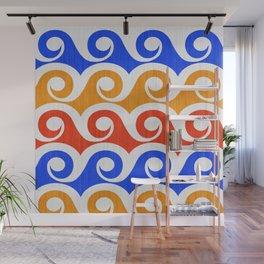 Abstract Waves ~ Pop Art Palette Wall Mural