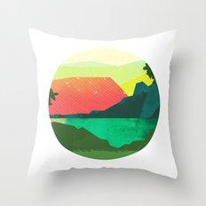 Circlescape Throw Pillow
