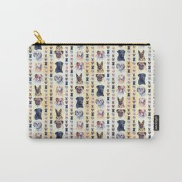 Dog Portraits Plaid Carry-All Pouch
