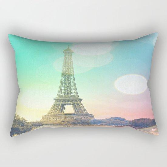 Paris. : Pastel Rainbow Bokeh Rectangular Pillow