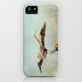 Blue Heron Landing iPhone Case