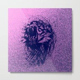 Tiger Purple Metal Print