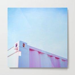 Pastel Retro Malibu II storage Metal Print