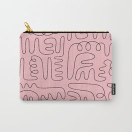 Loops & Curves - Pink Carry-All Pouch