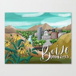 Digital Boise Idaho Canvas Print