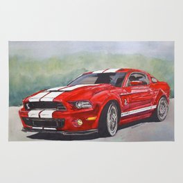 Red Cobra Rug