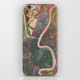 A Map of Vibrant New Orleans iPhone Skin