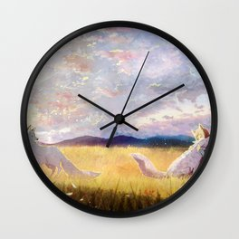 Playing with my friends Wall Clock