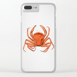 Crab - Watercolor Clear iPhone Case