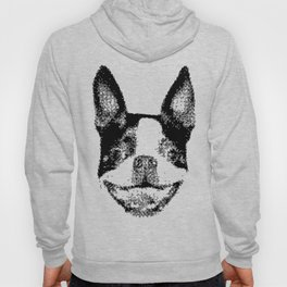Huge boston terrier head Hoody