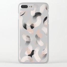 La gouache Light grey Clear iPhone Case