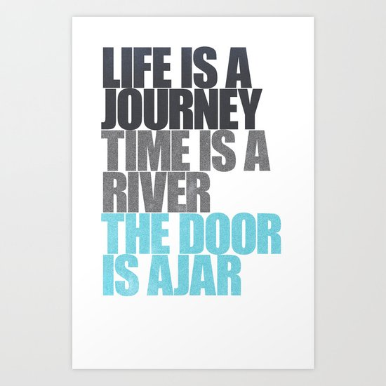 The Door is Ajar Art Print