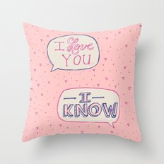 Conceited Valentine Throw Pillow