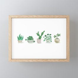 Little green fellows Framed Mini Art Print