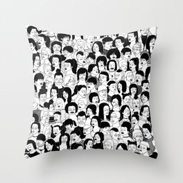 Girlz Throw Pillow