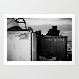 Padstow Containers Art Print