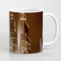 moscow Mugs featuring Moscow city by Vlad&Lyubov