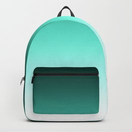 Turquoise and white blurred background Backpack