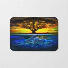 Duality Tree of Life Reflection Moon & Sun Day & Night Painting by CAP Bath Mat