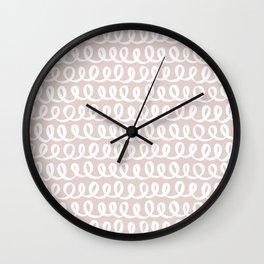 Loop da Loop . Light Blush Wall Clock