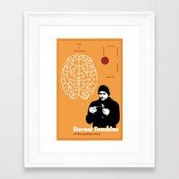 eternal sunshine of the spotless mind Framed Art Prints featuring Eternal Sunshine of the Spotless Mind by JAGraphic