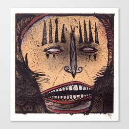Yellow mask Canvas Print