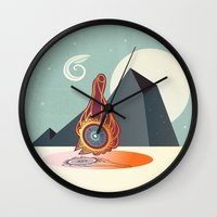 zodiac Wall Clocks featuring The zodiac by /CAM
