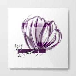 Floral Shell Metal Print