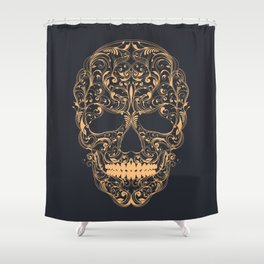 Skull ornament Shower Curtain