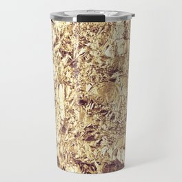 Abstract crumpled foil background. Grunge photo background. Travel Mug