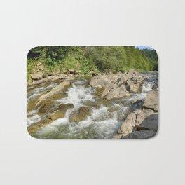 Blue whirlpools waterfall Bath Mat
