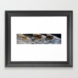 This is a panoramic picture of Minerva Terraces in Yellowstone. Framed Art Print