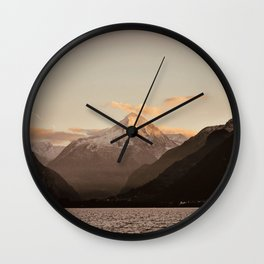 Lake Mountains Wall Clock