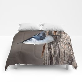 Upside Down Nuthatch Comforters