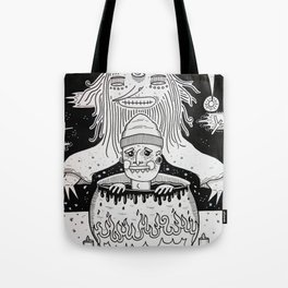 Jumped out the sorcerers cauldron. Tote Bag