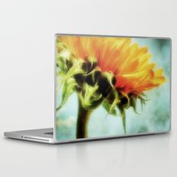 sunflower Laptop & iPad Skins featuring Sunflower by ALLY COXON