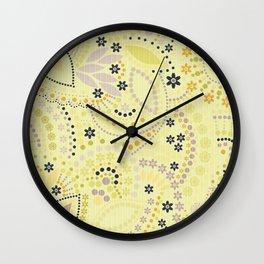 Placer dots , yellow Wall Clock