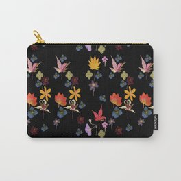 Dark Floral Garden Carry-All Pouch