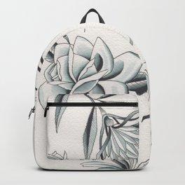 Watercolor Blue Grey Flowers Flash Sheet Backpack