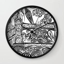 Jumbled London Wall Clock
