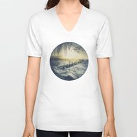 rowing V-neck T-shirts featuring Winter you winter me by HappyMelvin