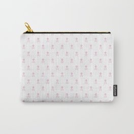 SKULLS PATTERN - LIGHT PINK - LARGE Carry-All Pouch