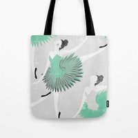 ballet Tote Bags featuring BALLET by Kiley Victoria