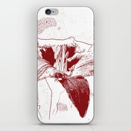Day Lily Print in Red iPhone Skin