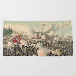 Civil War Assault on Fort Sanders Nov. 29 1863 Beach Towel